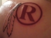 Washington Redskins Throwback Logo Tattoo