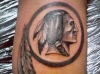 Washington Redskins Silver Logo Tattoo