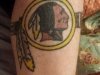 Washington Redskins Logo Tattoo