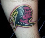 Washington Redskins Alternate Logo Tattoo
