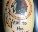 Washington Redskins Logo/ Hail to the Redskins Tattoo