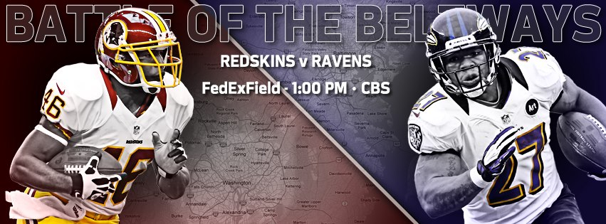 Washington Redskins Vs Baltimore Ravens Week 14