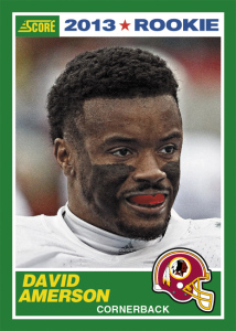 david amerson first football card