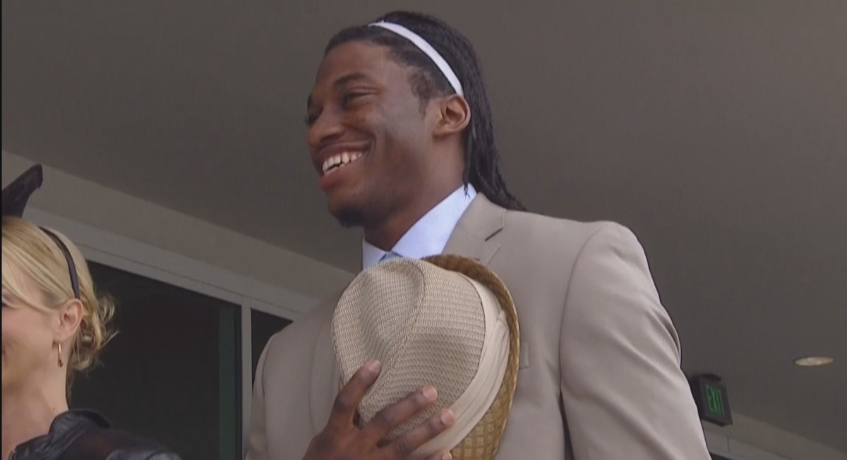 Robert Griffin III at the Kentucky Derby