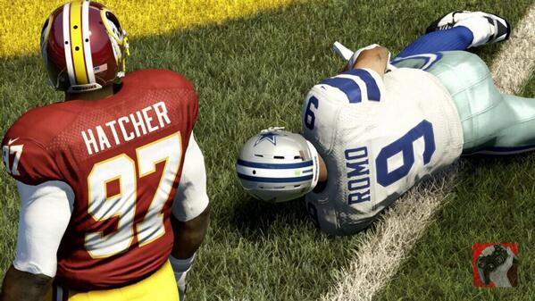 Hatcher sacks romo