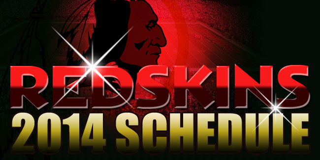 Washington Redskins 2014 Schedule