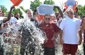 Redskins Players, Dan Snyder, George Allen Participate in the ALS Ice Bucket Challenge