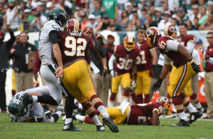 Chris Baker Will not be Suspended After hit on Foles Ruled Legal
