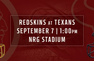 Washington Redskins vs Houston Texans Promo (VIDEO)