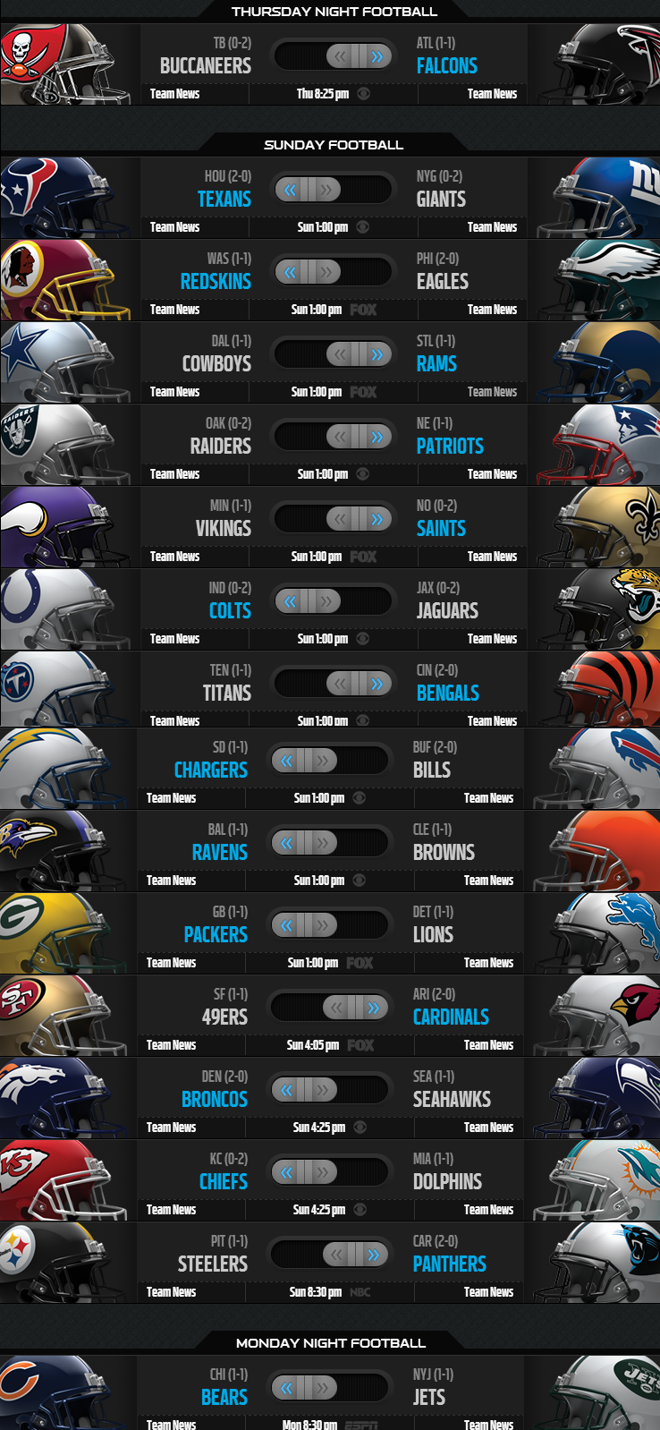 NFL Weekly Picks - Week 3