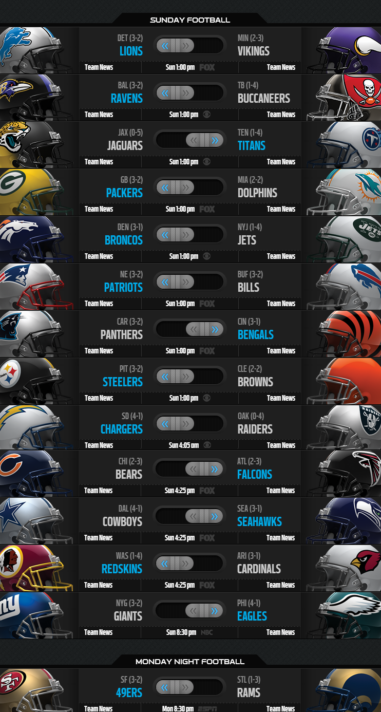 NFL Weekly Picks - Week 6