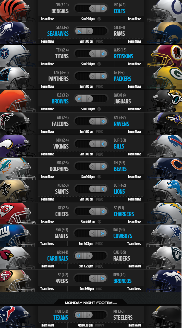 NFL Weekly Picks - Week 7