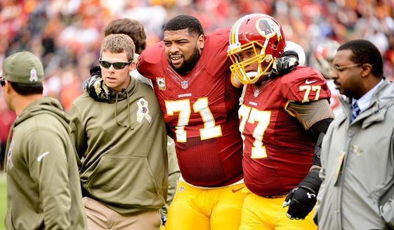 Redskins Inactive List for Week 12; Trent Williams & David Amerson Will not Play