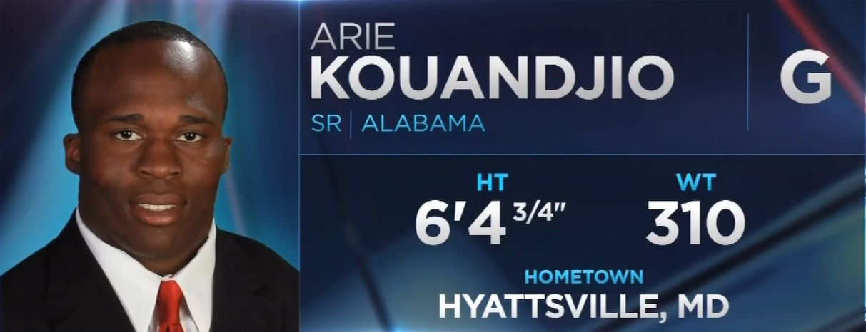 Washington Redskins Select G Arie Kouandjio With the 112th Pick (2015 NFL Draft)
