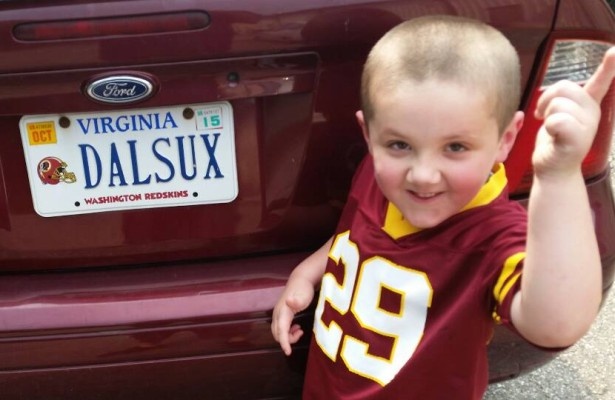 Redskins License Plate Collection