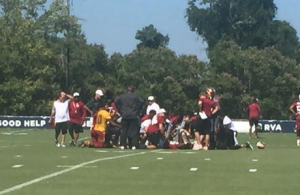 Bashaud Breeland Hurts Knee During Practice